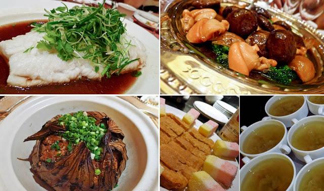 steamed cod, lotus leaf rice