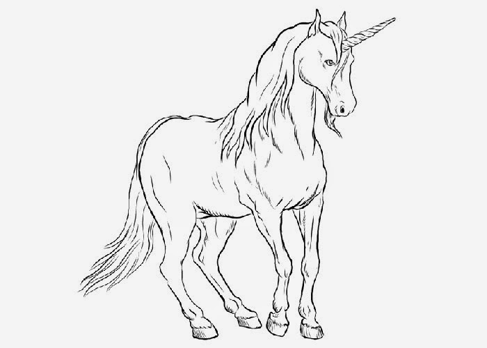 beautiful unicorn coloring pages - photo#38