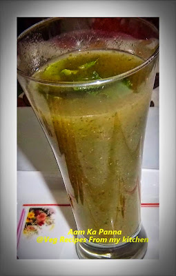 Mango, Mint, Summer drinks, Aam Ka Panna(Green Mango Drink),Aam ka Panna Recipe, How to make Aam ka Panna, Raw mango Panna ,