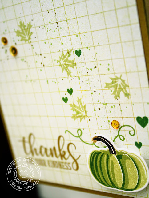 Sunny Studio Stamps: Autumn Greetings and Pretty Pumpkins Fall Themed Thank You Card by Vanessa Menhorn
