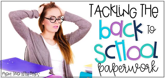 Tackling Back to School Paperwork