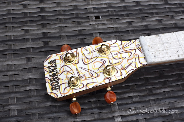 bonanza concert ukulele headstock
