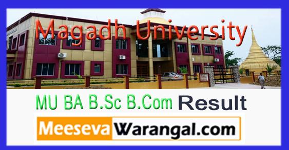 Magadh University BA B.Sc B.Com 3rd Year Result 2017