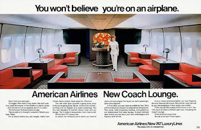 American Airlines New Coach Lounge