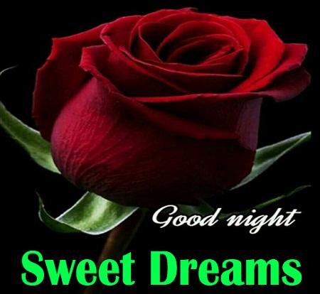 Good Night Sweet Dreams Love Flower Image