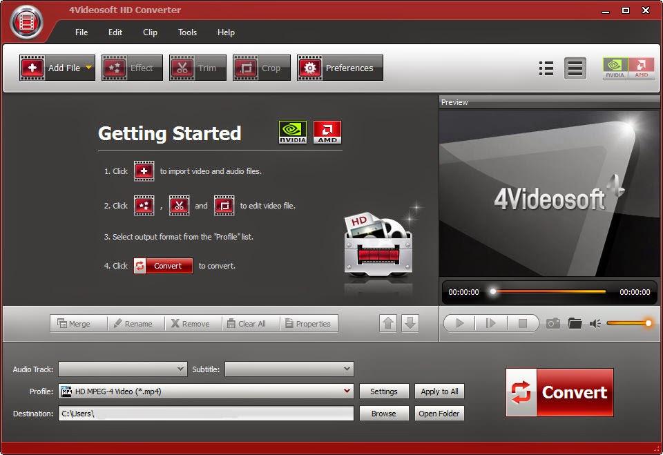 Get 4Videosoft HD Converter Crack