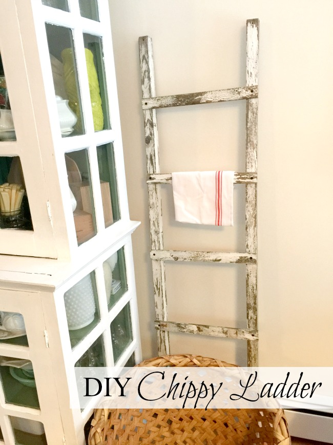 Chippy ladder and a hutch with overlay