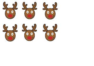 tetes de rennes à imprimer gratuitement pour fabriquer traineau noel