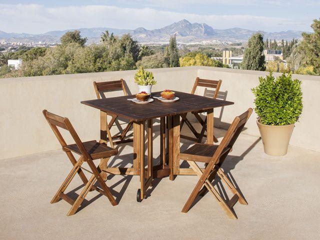 Las mejores mesas y sillas para tu terraza decoraci n for Mesa y sillas plastico jardin