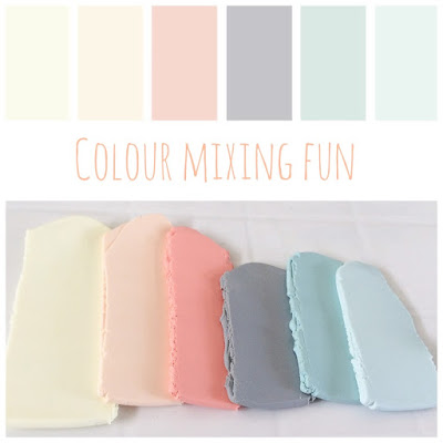 Colour Mixing Soft Pastels at Lottie Of London