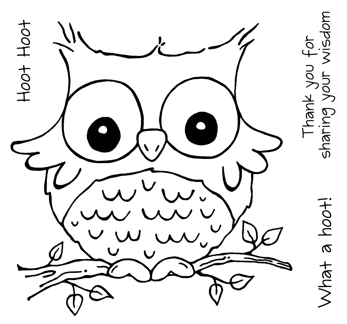 The stamp man new woodware spring stamp designs now for Cute coloring pages of owls