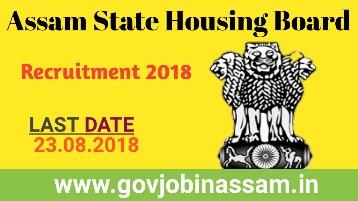 Assam State Housing Board Recruitment 2018,govjobinassam