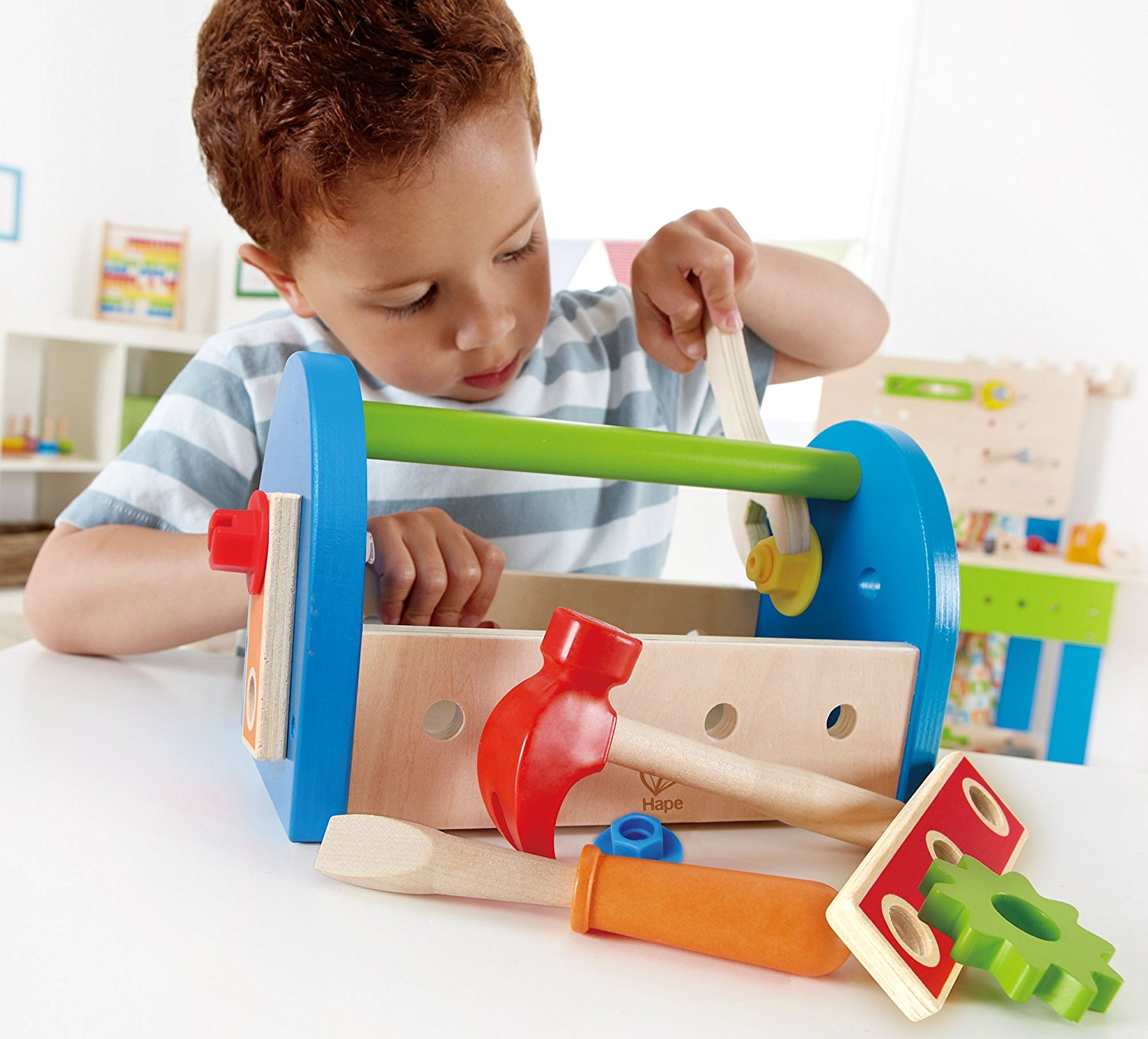 Hape Fix It Kid s Wooden Tool Box and Accessory Play Set