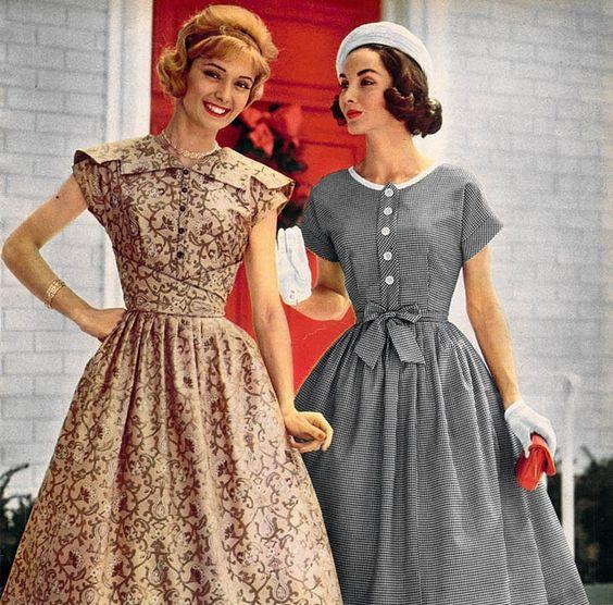 Roupas, acessórios e penteados usados por mulheres nos anos 50