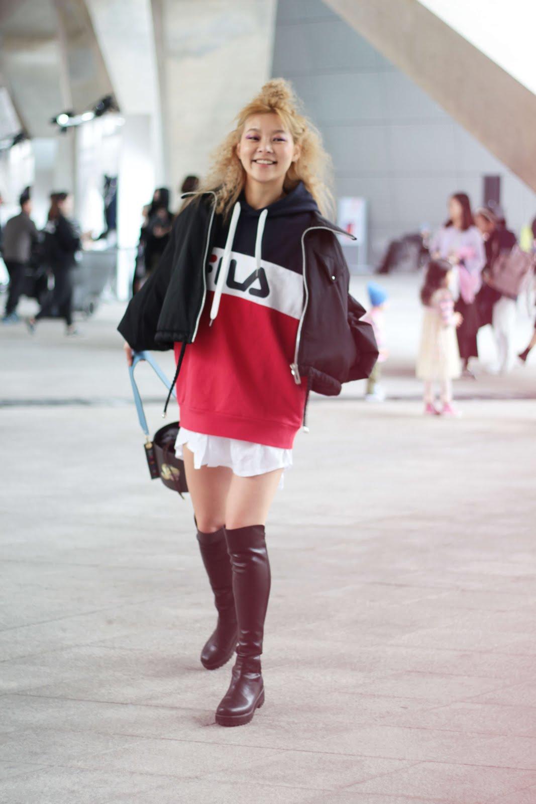 song haena hera seoul fashion week fw17 streetstyle