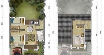lingkar warna: 11 denah rumah minimalis ukuran 7x15 meter