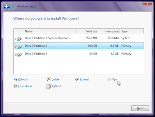 windows 7 me installation partition kaise select kare