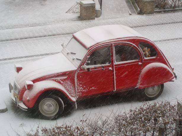 Eerste sneeuwfoto's