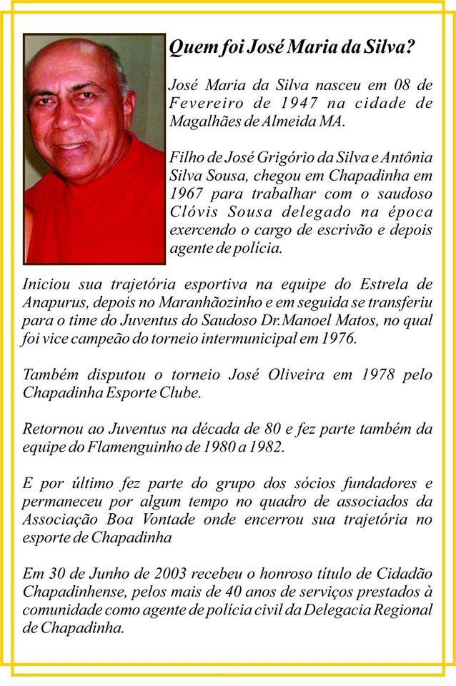 Quadro Memória: Homenagem ao saudoso agente de Polícia Civil, José Maria
