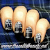 Nail Art of the Day: Blue Tartan