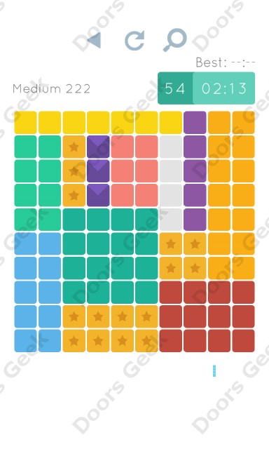 Cheats, Walkthrough for Blocks and Shapes Medium Level 222