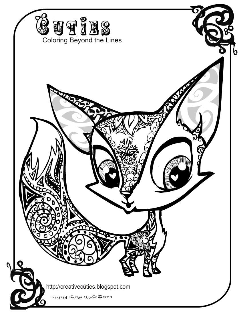 quirky artist loft 39 cuties 39 free animal coloring pages. Black Bedroom Furniture Sets. Home Design Ideas