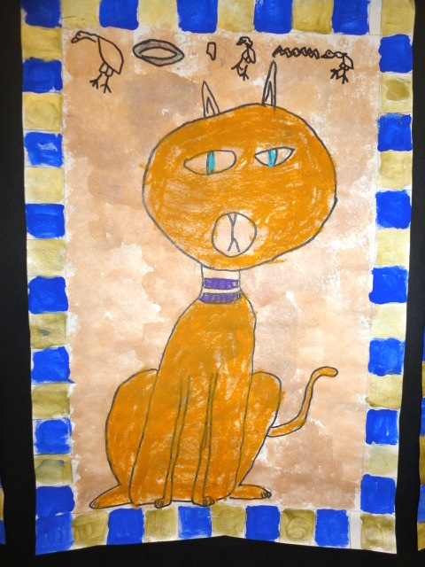 Thomas Elementary Art: 2nd Grade Egyptian Cats and Dogs