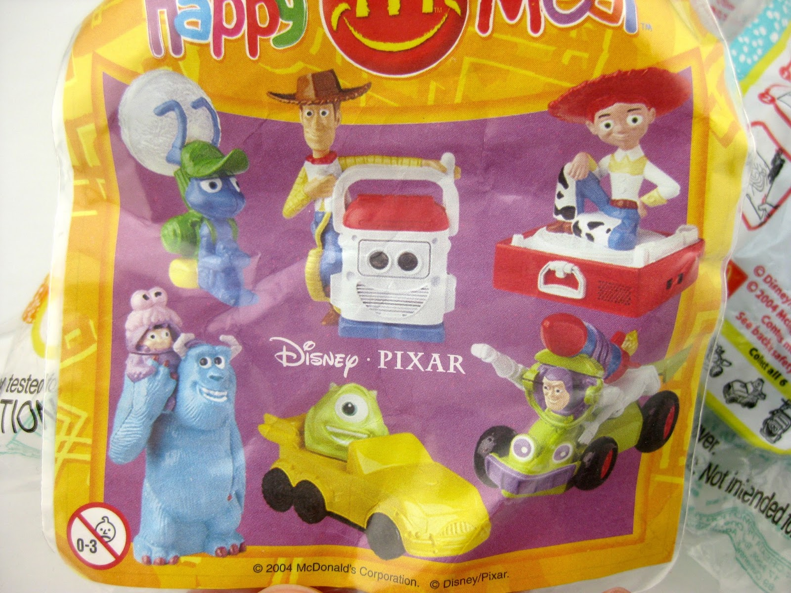 """Disney·Pixar FUN!"" Happy Meal Toys (2004)"