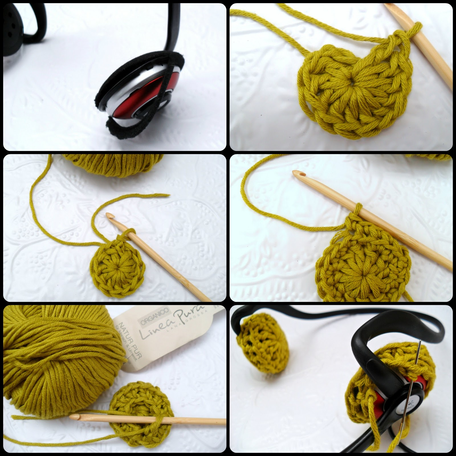 Diy Ear Cushions For Headphone Crochet Pattern