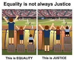 Equality is not the same a justice. www.bellybuttonpanda.co.uk