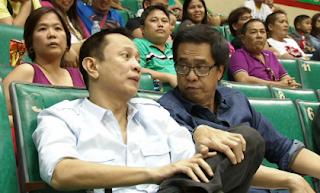 PBA CEO Chito Salud and Commissioner Chito Narvasa