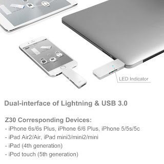 SP xDrive Z30 Lightning Dual USB Flash Drive