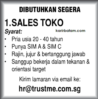 Lowongan Kerja PT. Trustme Indonesia