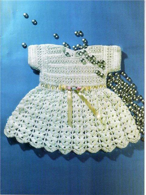Patron Crochet Vestidito Bebe