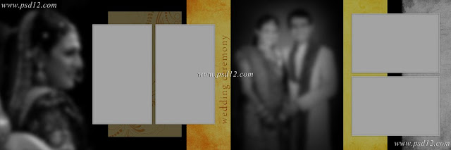 Evergreen 12x36 Album PSD Vol-8 | Wedding Photo Album PSD templates