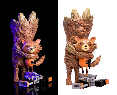 Guardians of the Galaxy Rocket & Groot: Treehugger Marvel Vinyl Figure by Mike Mitchell x Mondo