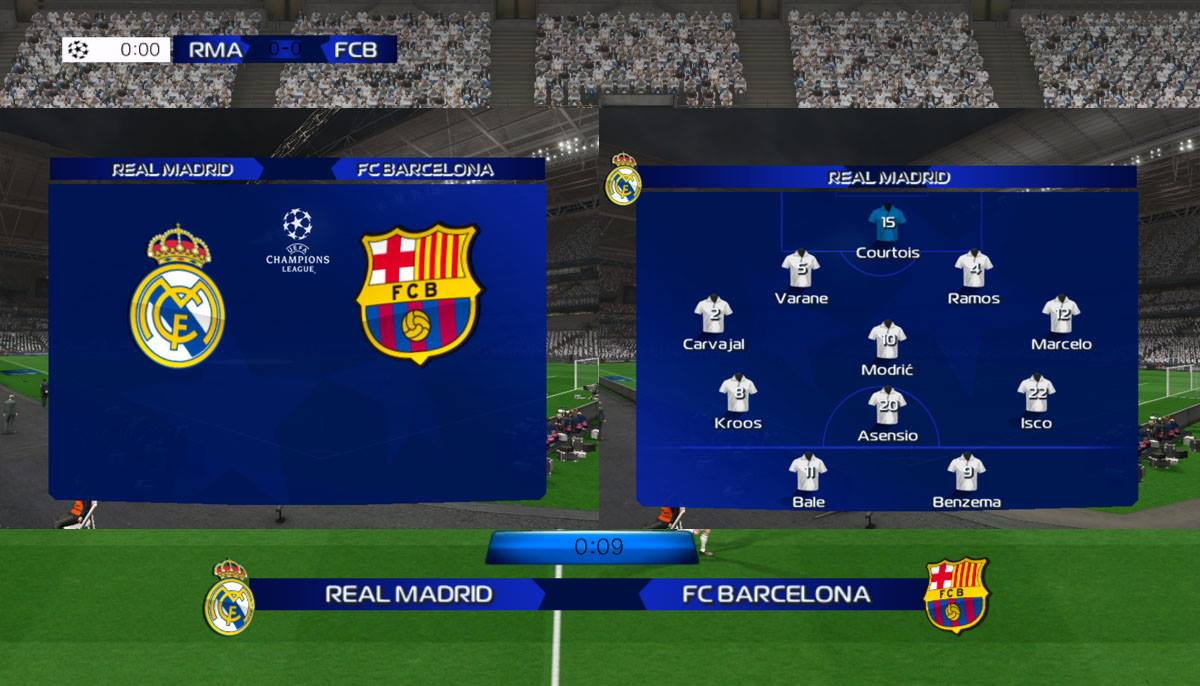 PES2013 uefa champions league 2018 scoreboard by A.Hassan