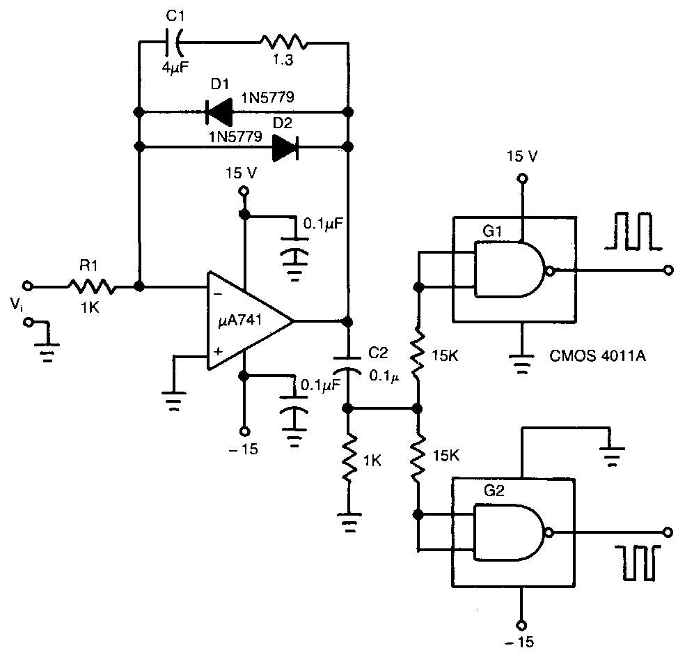 voltage to frequency converter circuit diagram