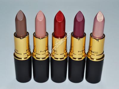 MAC Divine Night Lipsticks Review & Swatches