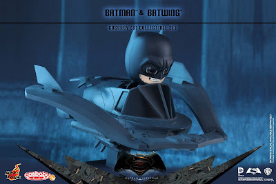 Batman v Superman: Dawn of Justice Batman & Batwing Cosbaby Vinyl Figure Collectible Set by Hot Toys