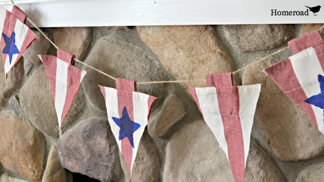 No Sew Fourth of July Flag Garland