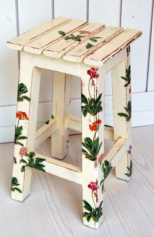 El rinc n vintage de karmela hoy vamos con muebles - Muebles decorados a mano ...