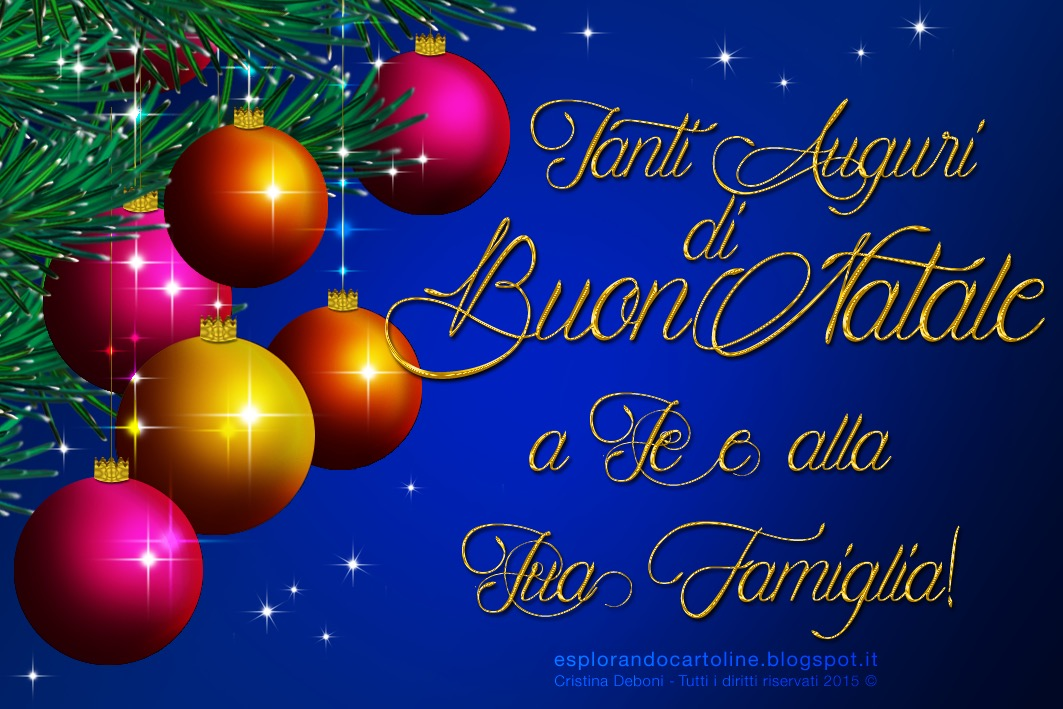 Auguri Di Buon Natale Alla Famiglia.Cdb Cartoline Per Tutti I Gusti Cartolina Tanti Auguri Di Buon