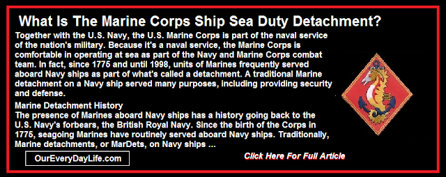 What Is The Marine Corps Ship Sea Duty Detachment?
