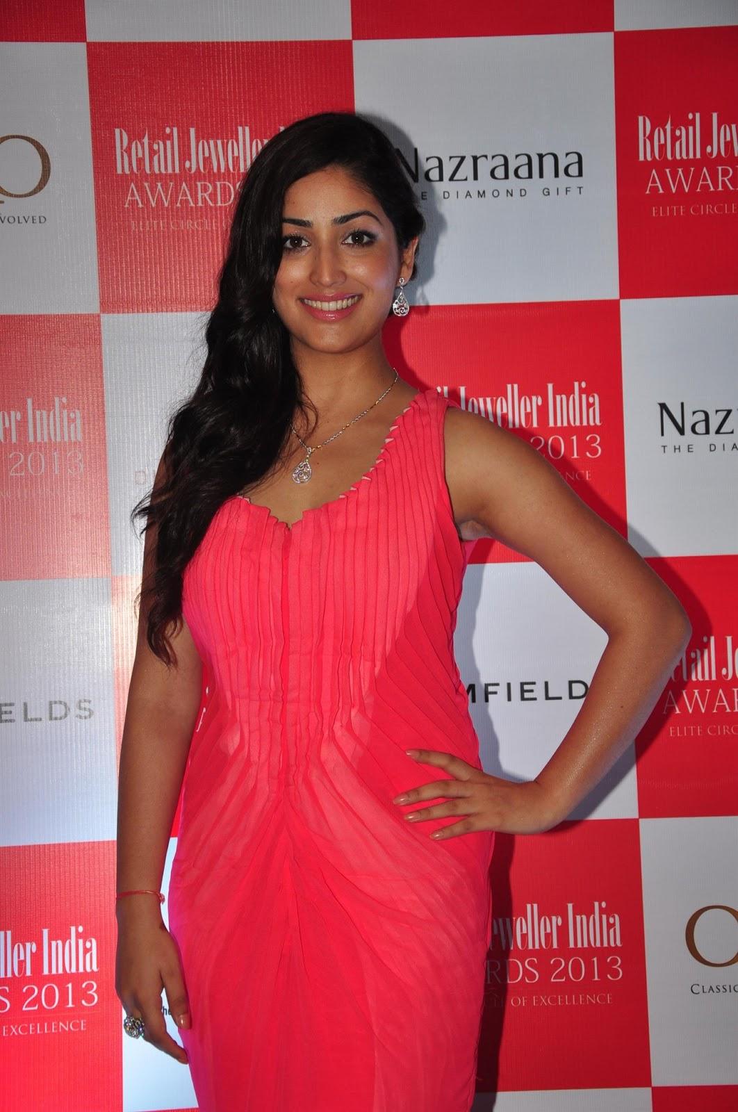 yami gautam gorgeous in pink dress at retail jeweller