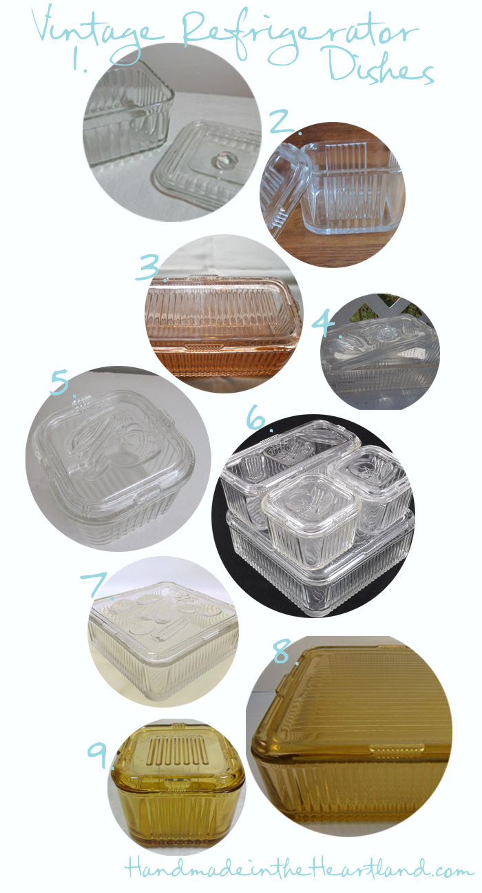 Vintage Federal Glass Refrigerator Dishes