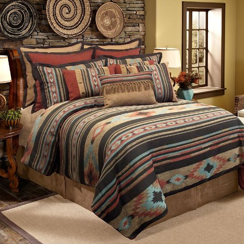 piece stamped free set bazaar indigo product indian bedding bath floral comforter