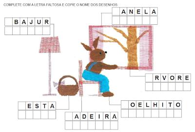 Escrevendo nomes - Livro O PRESENTE DE PÁSCOA