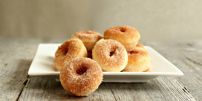 Baked Cinnamon Sugar Mini Doughnuts