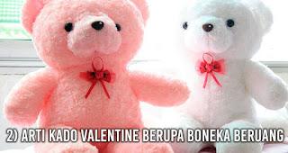 Arti Kado Valentine Berupa Boneka Beruang
